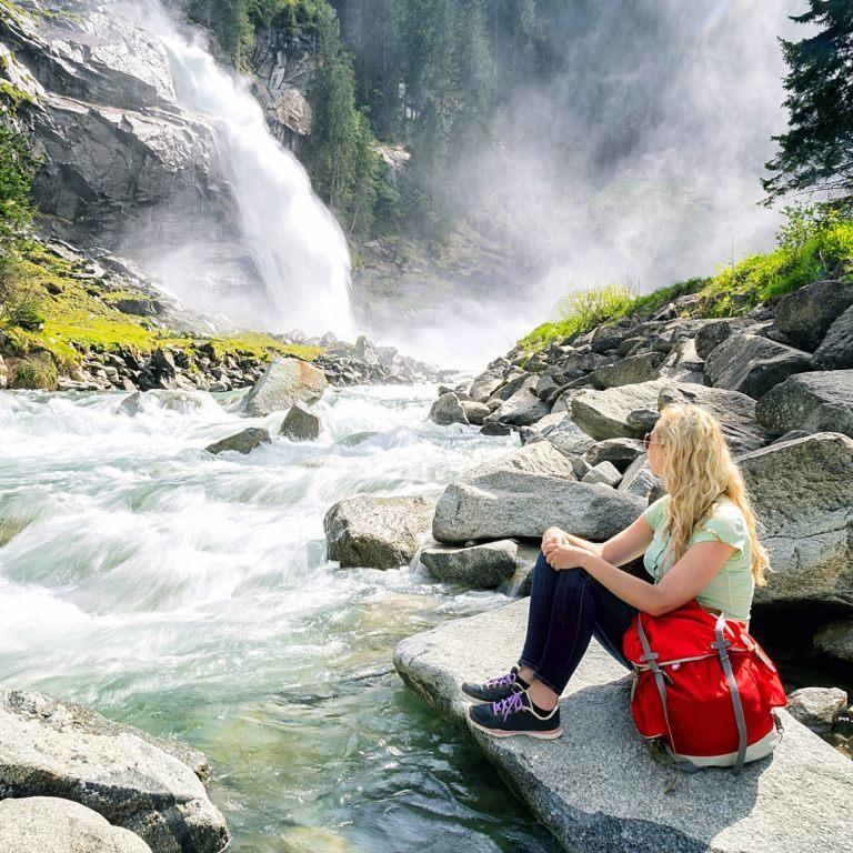 Aerosol-Inhalations-Therapie am Krimmler Wasserfall