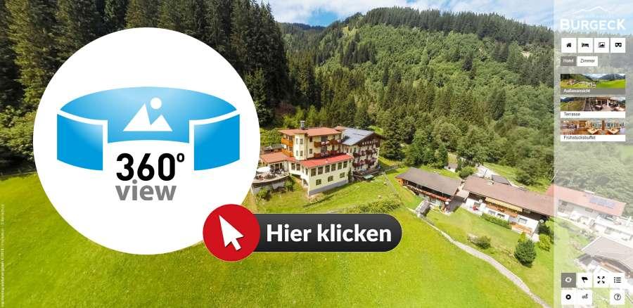 Hotel Burgeck an den Krimmler Wasserfällen 360 Grad